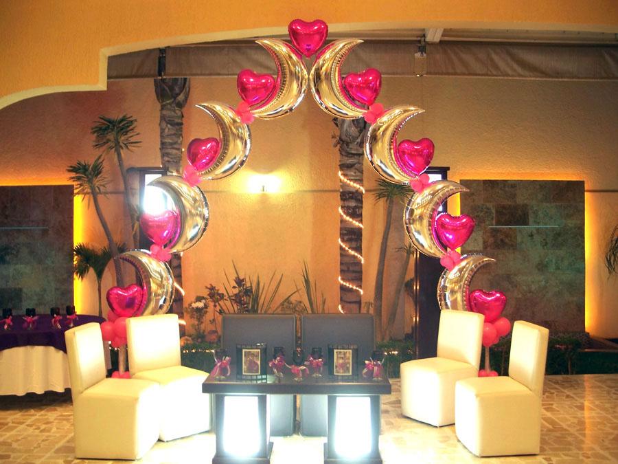 Globoflex decoraci n con globos bodas xv a os for Decoracion con globos para xv anos