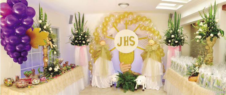 Globoflex decoraci n con globos bodas xv a os for Decoracion de pared para primera comunion