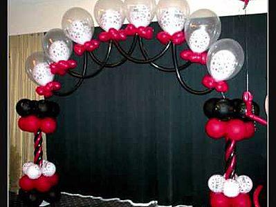 Decoracion con globos arcos con globos para bodas xv a os - Arreglos con globos para boda ...