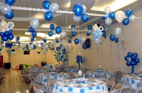 Globoflex decoraci n con globos bodas xv a os graduaciones fiestas infantiles primera - Como decorar un salon para bautizo ...